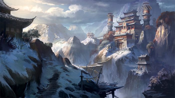 """Huashan Temple"" by Xiao Ran"