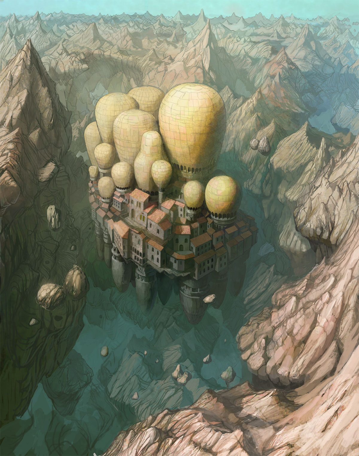 """Floating Town"" by Takeshi Oga"