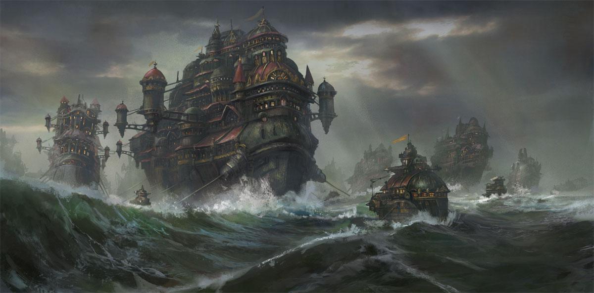 """Kodran Migrant Fleet"" by Tyler Edlin"